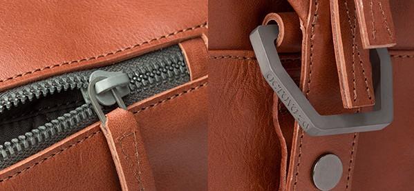 Men's Octovo 48HR Leather Bag Titanium