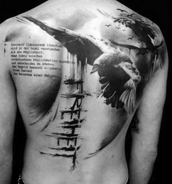 Mens Odins Ravens Tattoo Ideas