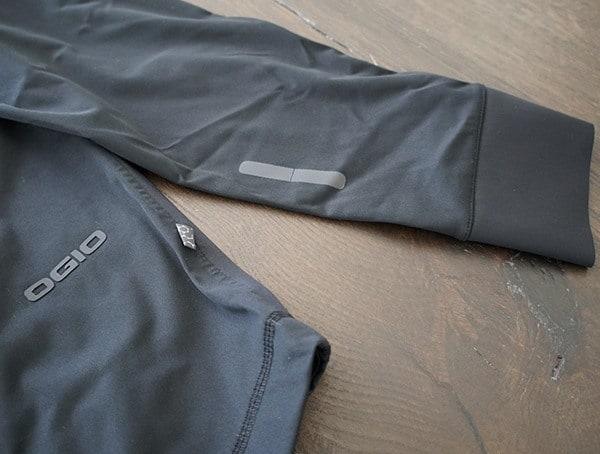 Mens Ogio All Elements Elite Rain Jacket Reflective Forearm Details