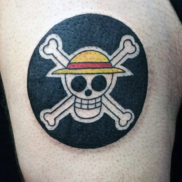 Mens One Piece Tattoo Design Inspiration On Upper Arm