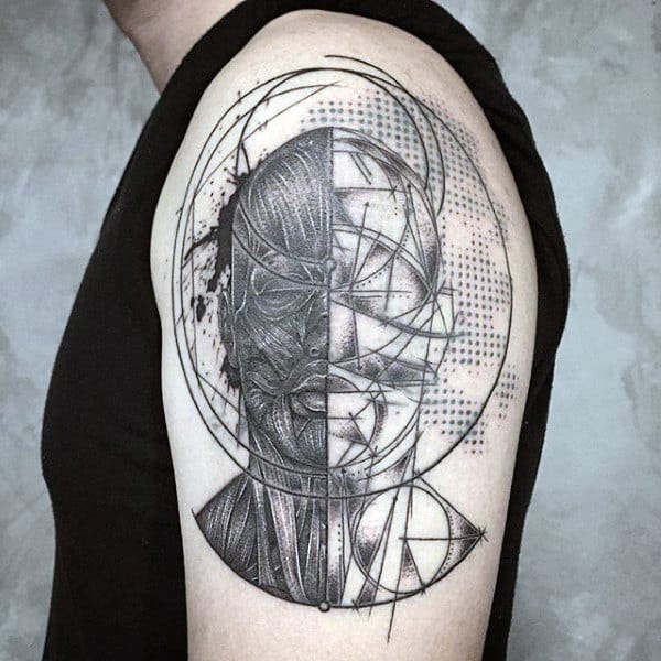 Men's Optical Illusion Tattoo Ideas