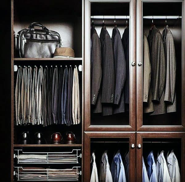 Mens Organized Suits And Pants Closet Cabinetry