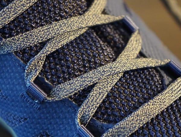 Mens Outline Mid Gtx Hiking Shoes Laces Detail