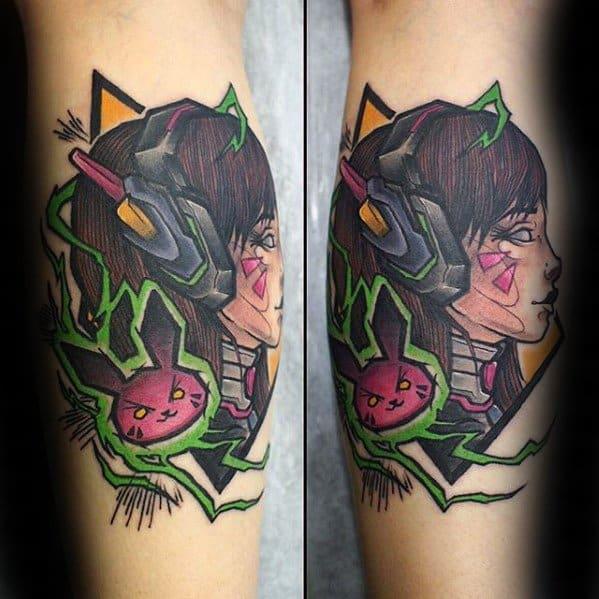 Mens Overwatch Tattoo Design Ideas
