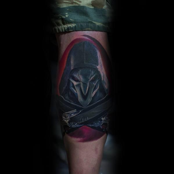 Mens Overwatch Tattoo Design Inspiration