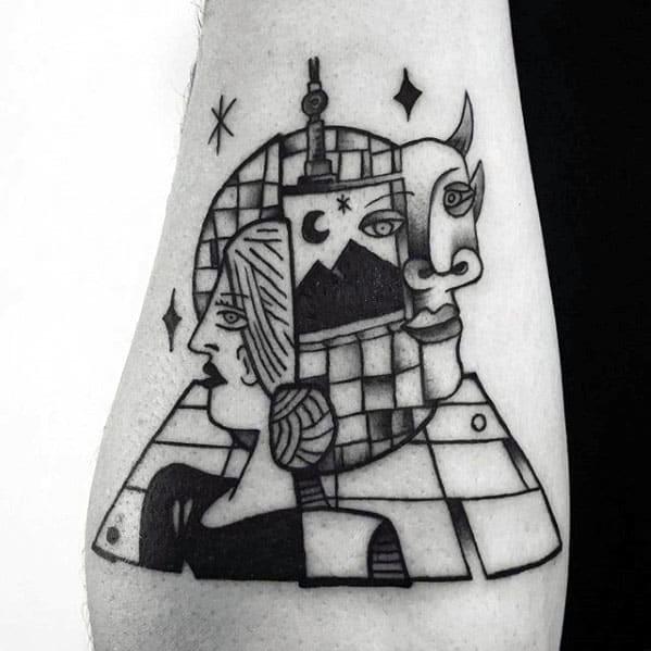 Mens Pablo Picasso Tattoo