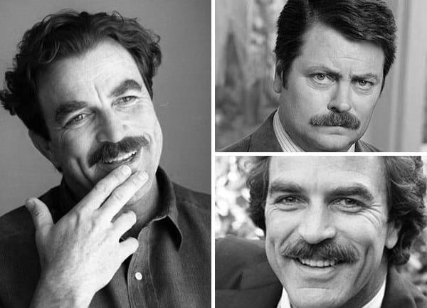 Mens Painters Brush Mustache Style