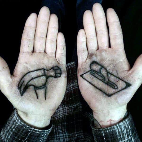 Mens Palm Amazing Tattoo
