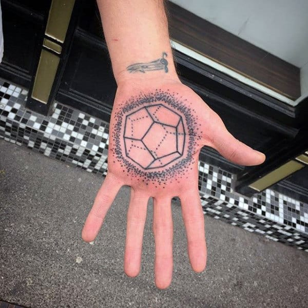 Mens Palm Dotted Design Tatto