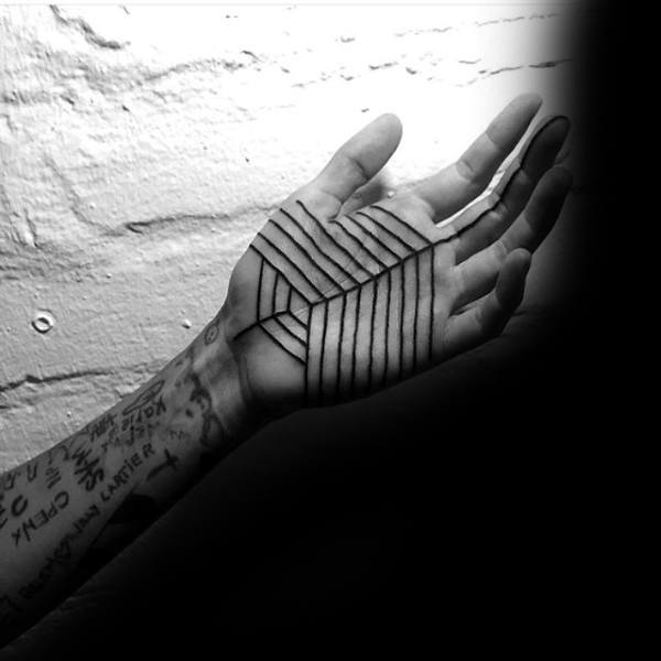 Mens Palm Impressive Tattoo