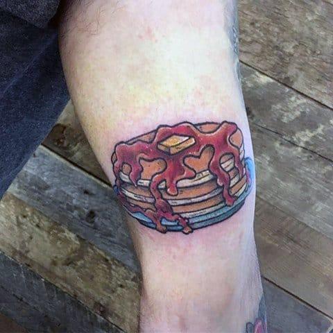 Mens Pancake Tattoo Designs