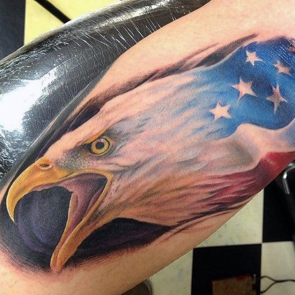 81377ff2f 90 Patriotic Tattoos For Men - Nationalistic Pride Design Ideas