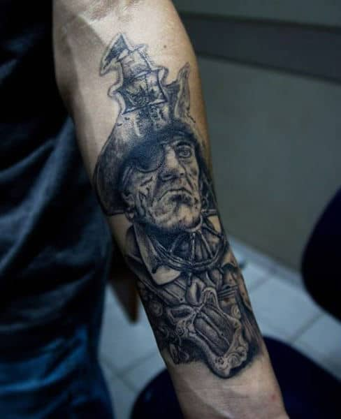 Men's Pirate Ship Tattoos