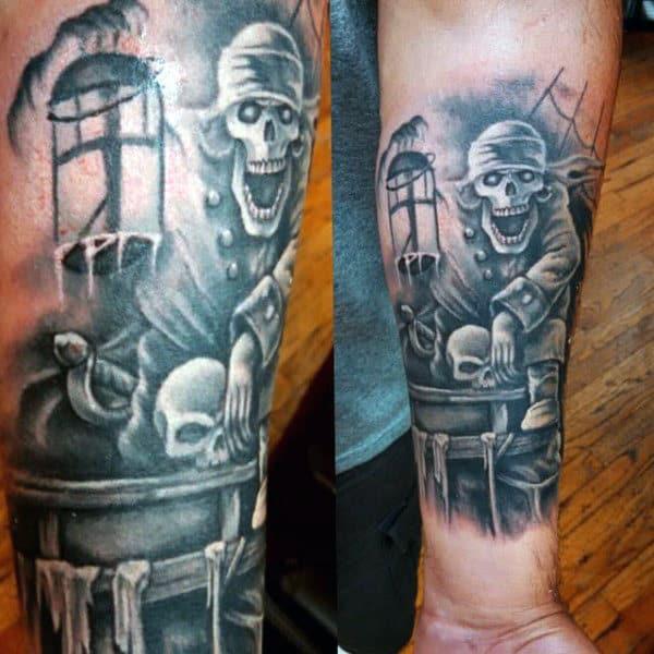 Men's Pirate Tattoo