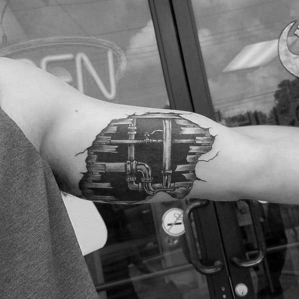Mens Plumbing Tattoo Design Ideas