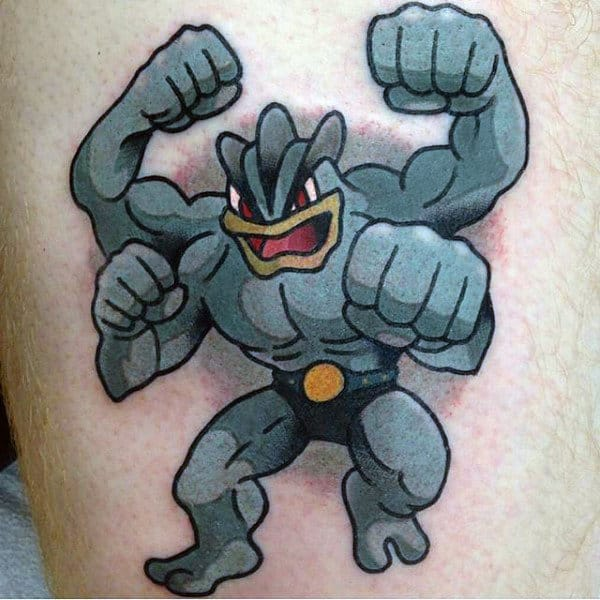 Mens Pokemon Video Game Cool Tattoos