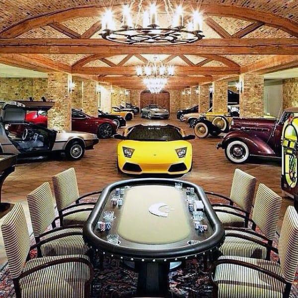 Mens Poker Room Dream Garage Luxury Home