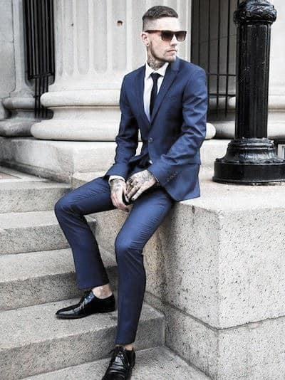 Mens Polished Navy Blue Suit Style Ideas