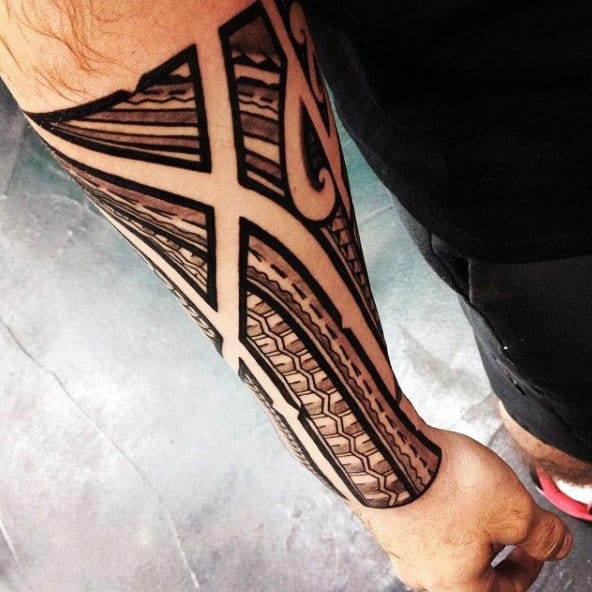 40 polynesian forearm tattoo designs for men masculine for Tribal tattoos for men forearm