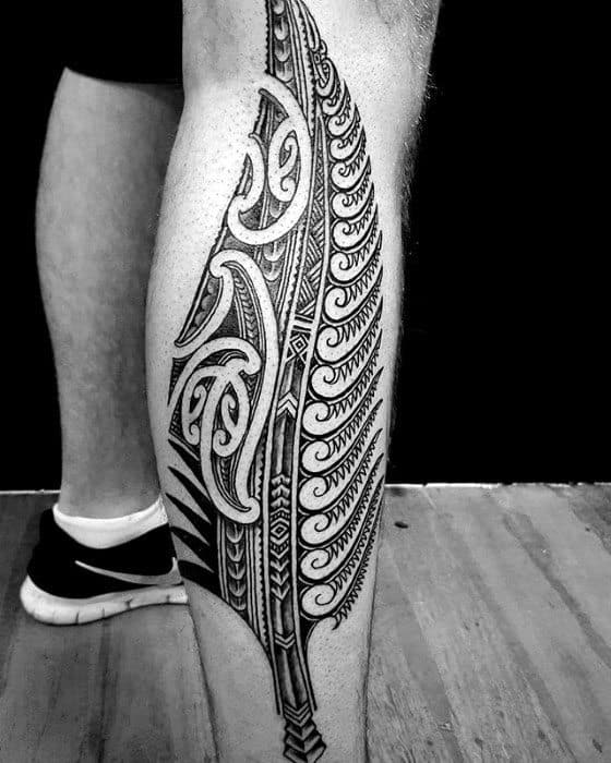 Tattoo Designs Legs: 40 Polynesian Leg Tattoo Designs For Men