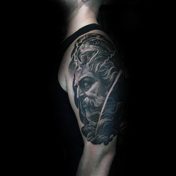 Mens Portrait Tattoo Ideas Half Sleeve