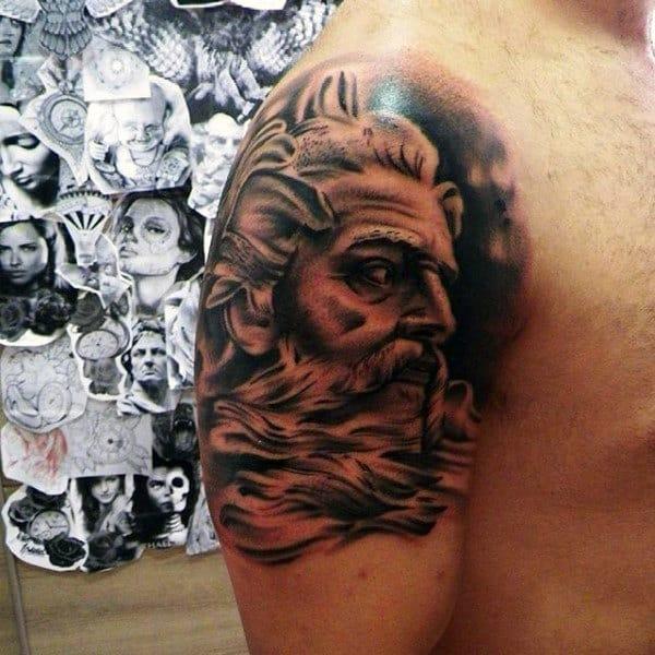 Men's Poseidon Tattoo Meaning