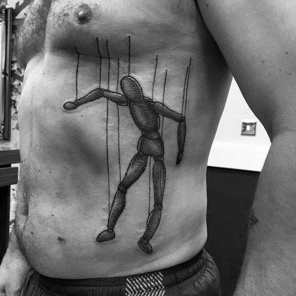 Mens Puppet Tattoo Design Ideas