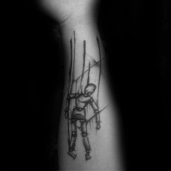 Mens Puppet Tattoo Ideas