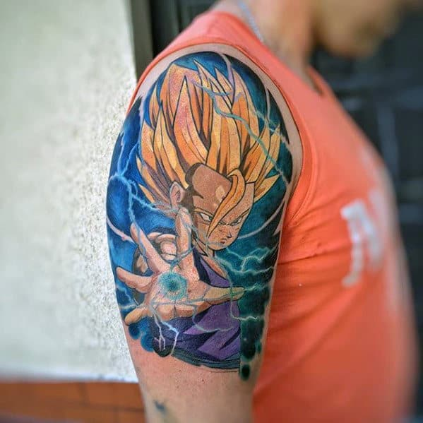 40 Vegeta Tattoo Designs For Men - Dragon Ball Z Ink Ideas