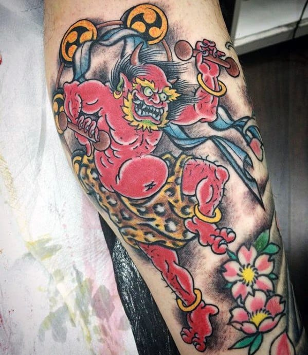 Mens Raijin Tattoo Ideas
