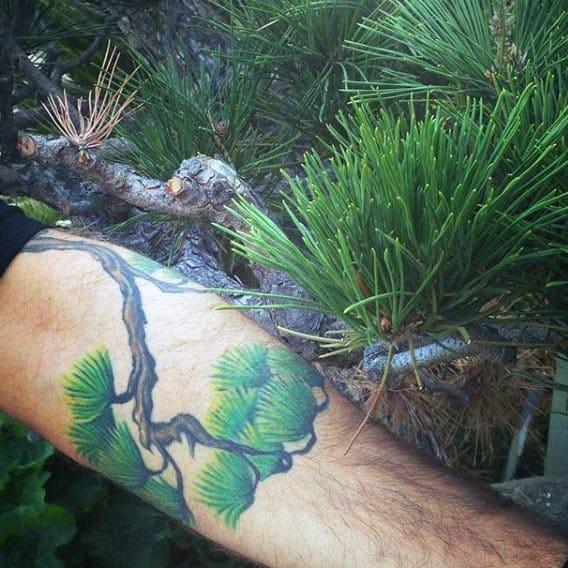 60 bonsai tree tattoo designs for men zen ink ideas for Realistic tree tattoos