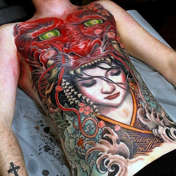 40 Dragon Chest Tattoo Designs For Men - Mythical Monster Ideas