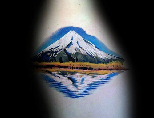 Mens Reflection Tattoo Designs