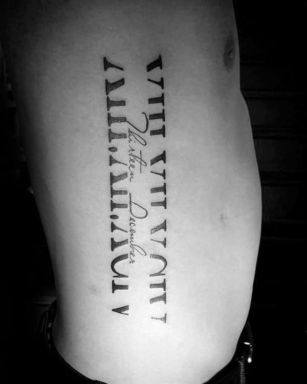 100 roman numeral tattoos for men manly numerical ink ideas. Black Bedroom Furniture Sets. Home Design Ideas