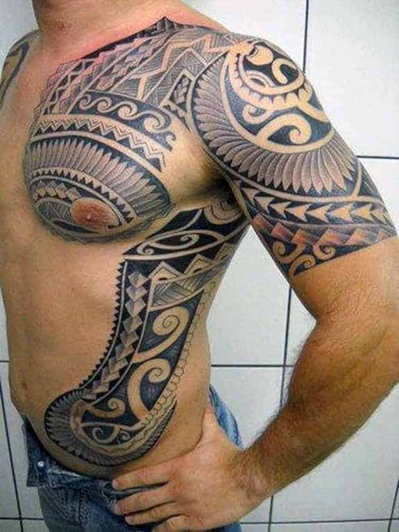 Tatuagem Maori: Top 40 Best Tribal Rib Tattoos For Men