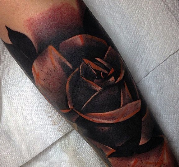 Men's Rose Flower Tattoo Designs