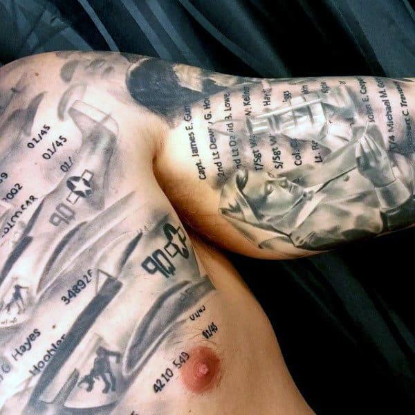 Men's Royal Military Tattoo On Bicep