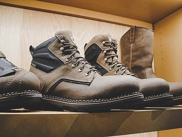 Mens Rugged Leather Boots Shot Show 2019