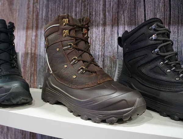 Mens Rugged Winter Boots Waterproof Construction