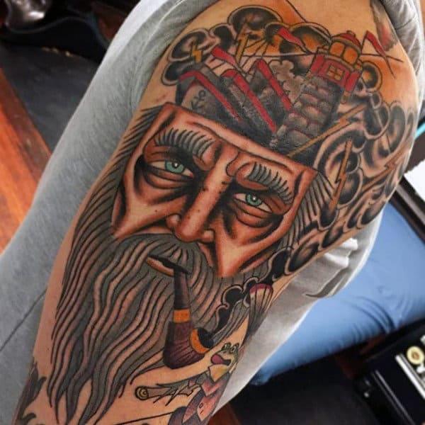 Mens Sailor Tattoos On Upper Arm