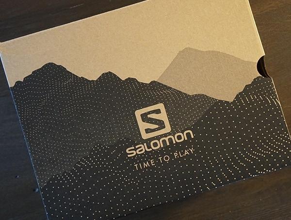 Mens Salomon Outline Mid Gtx Navy Shoe Box