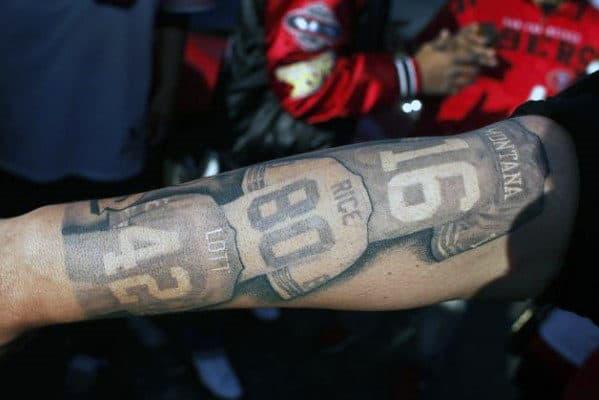 Mens San Francisco 49ers Football Jerseys Forearm Tattoo