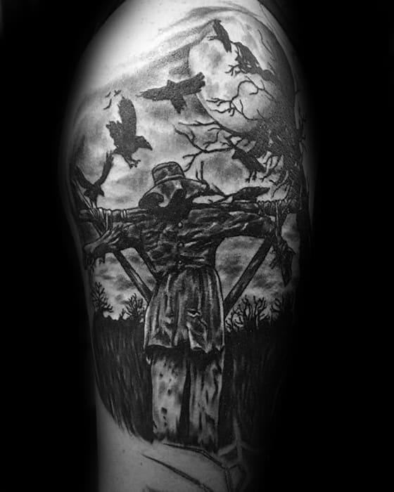 Mens Scarecrow Tattoo Design Ideas