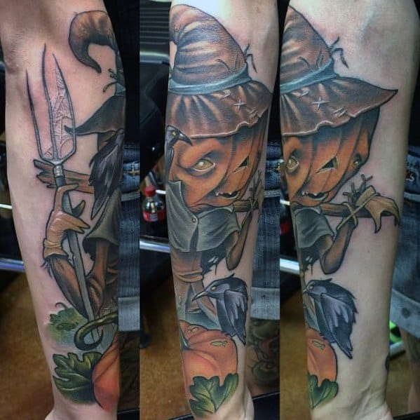 Mens Scarecrow Tattoo Design Inspiration