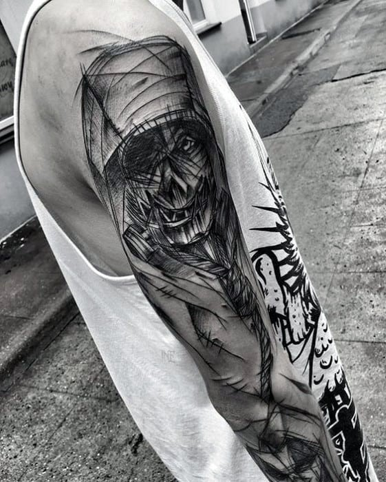 Mens Scarecrow Tattoo