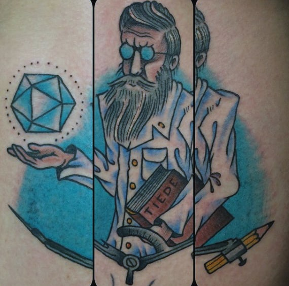 Mens Science Tattoo Professor