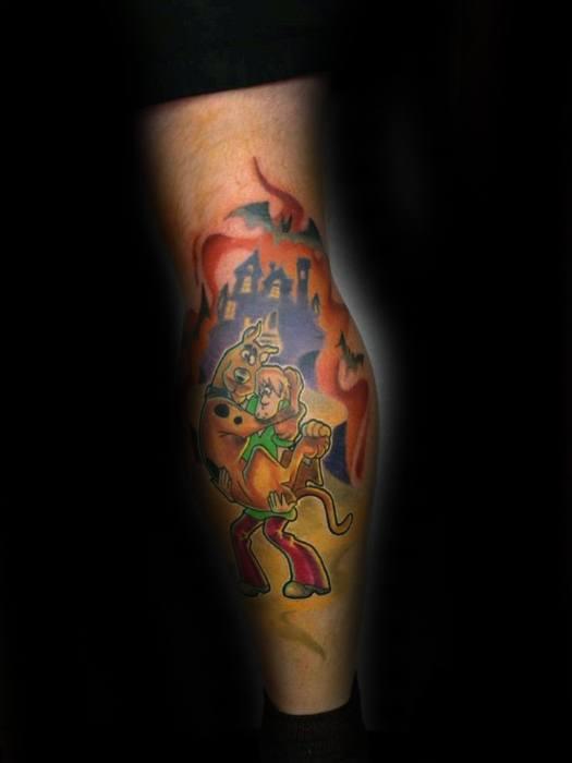 Mens Scooby Doo Tattoo