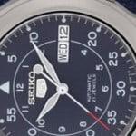 Men's Seiko 5 Blue Canvas Strap Watch