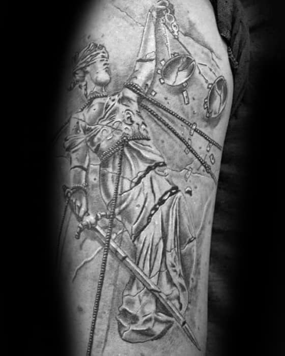 Mens Shaded Arm Tattoo Ideas With Metallica Design