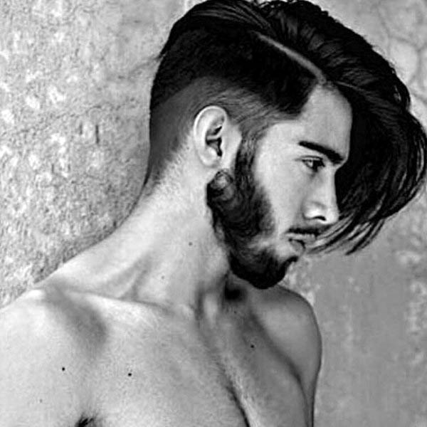 Mens Shaved Side Medium Long Haircut